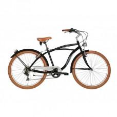 Bicicleta Adriatica Cruiser Man 26 6V neagra 45 cm