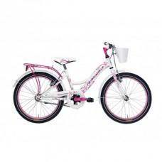 Bicicleta Adriatica Girl 20 alb/roz