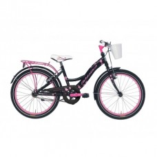 Bicicleta Adriatica Girl 20 negru/roz