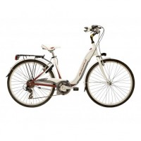 Bicicleta Adriatica Relax 28 6V alb/bordo 45 cm