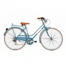 Bicicleta Adriatica Rondine Lady 28 6V albastra 45 cm