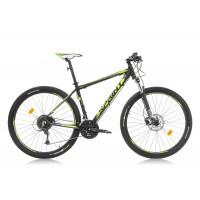 Bicicleta Sprint Apolon Pro 27.5 negru mat/verde lime 2016-480 mm