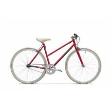 "Bicicleta Clasic, Rosu Mat, 18"" , Fixie - 1 viteza"