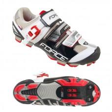 Pantofi MTB Hard Force negru/alb 40