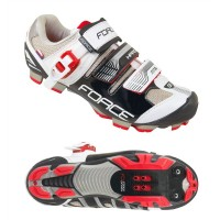 Pantofi MTB Hard Force negru/alb 45