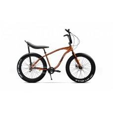 Bicicleta Fatbike Pegas Cutezator EV banana 7 viteze, Portocaliu Cupru