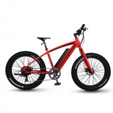 Bicicleta Fatbike Pegas Fatbike Suprem Dinamic E-bike, Rosu Mat