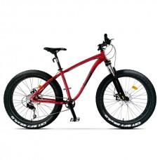 Bicicleta Fatbike Pegas Suprem, fatbike, 10 viteze, Rosu